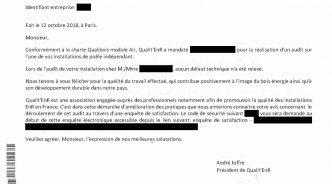 Qualibois salue le travail de Feudebois.com
